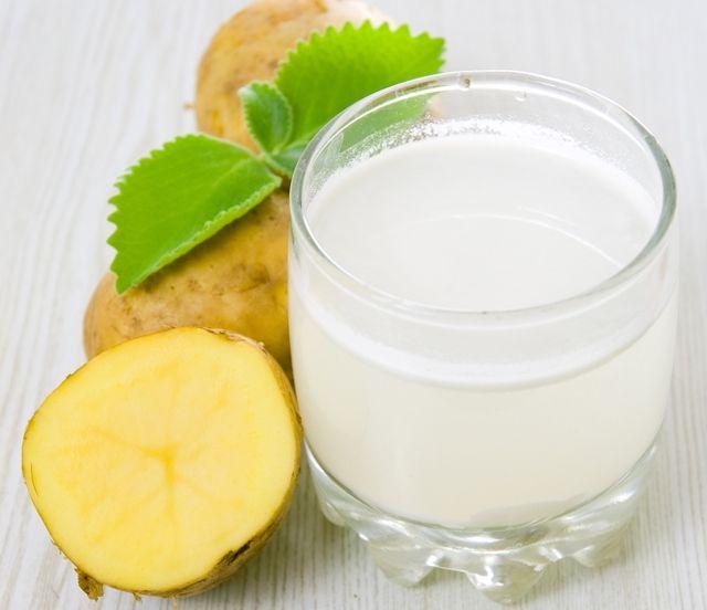 Картофельный сок против папиллом на лице