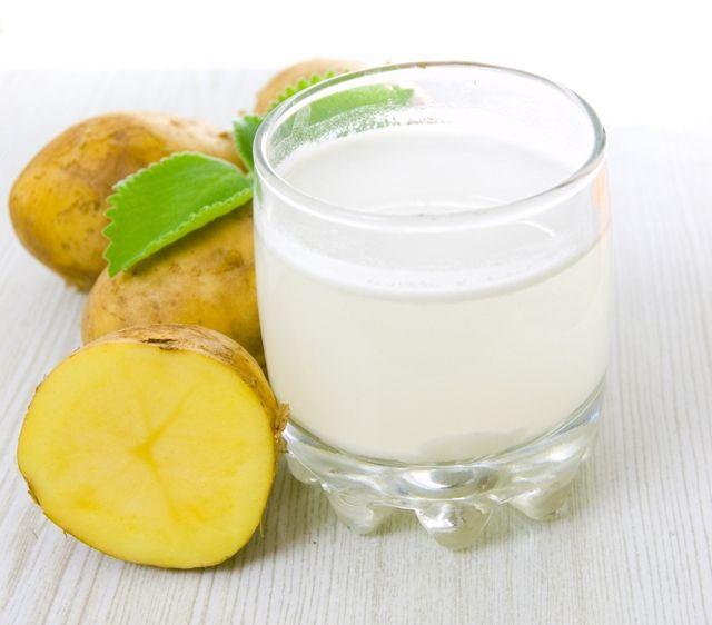 Сок сырой картошки при папилломах во рту
