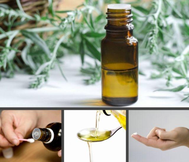 Способы применения масла полыни от папиллом