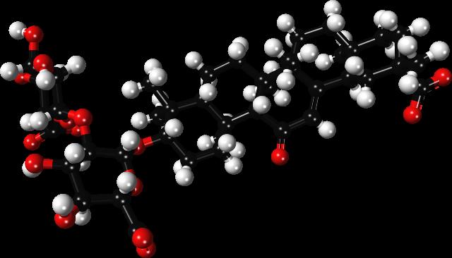 3д модель глицирризиновой кислоты