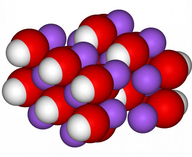 3д модель натрия гидроокиси