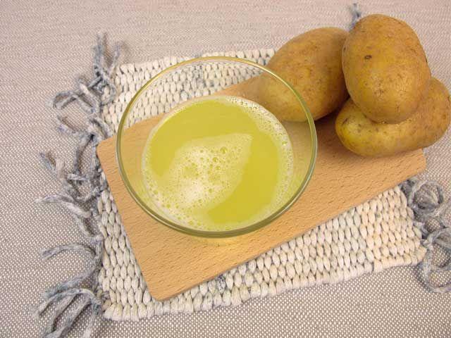 Картофельный сок при висячих папилломах под мышками